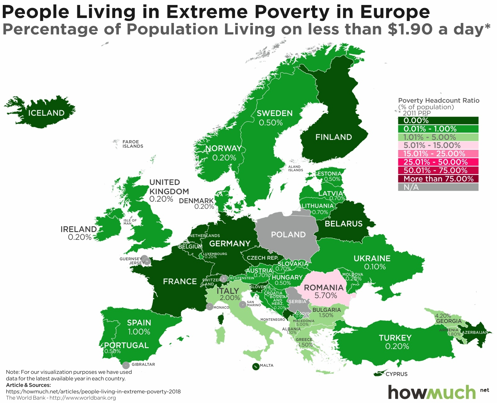 Poverty Map in Europe