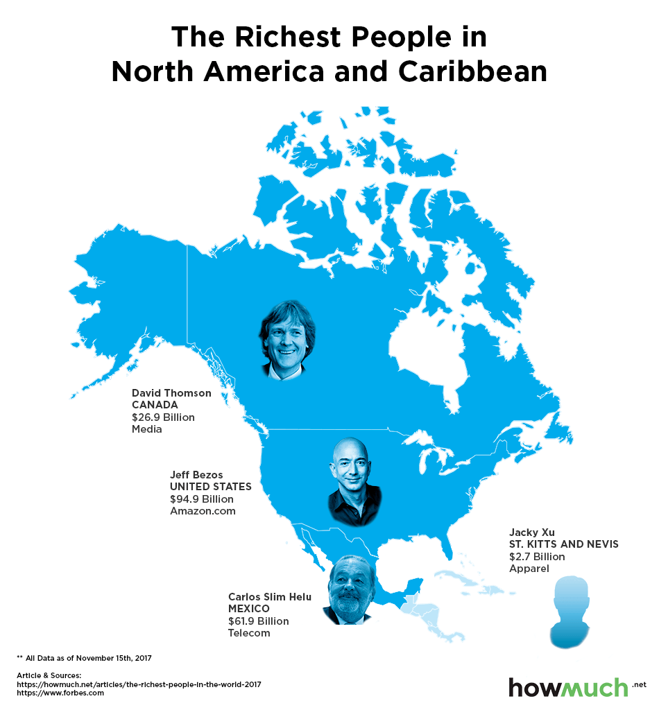 Mapping The Richest People In The World
