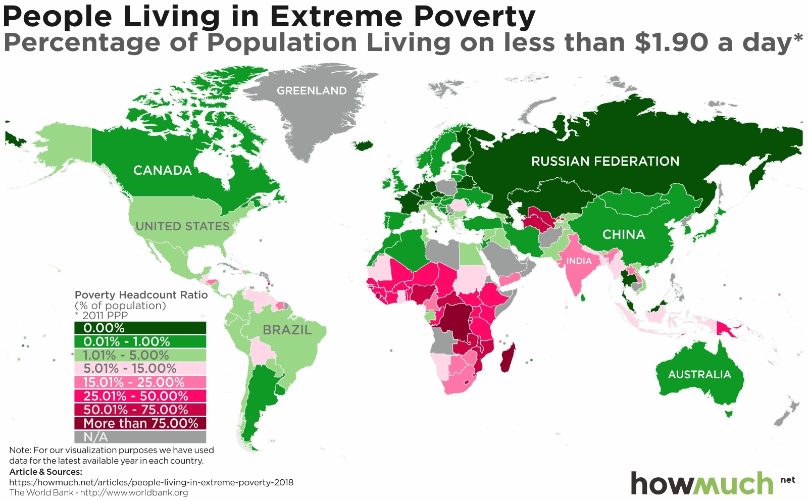 Australia Map In World.Mapping Extreme Poverty Around The World
