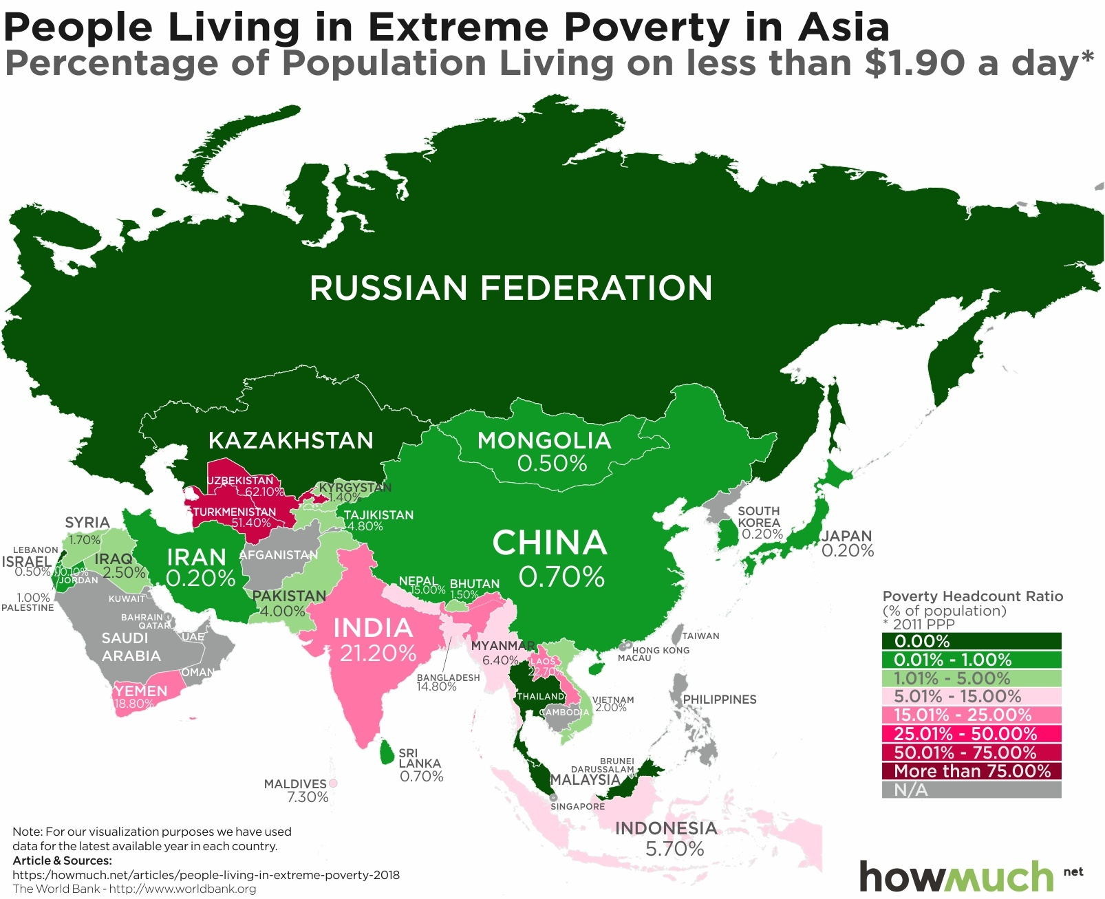 Mapping Extreme Poverty Around the World on