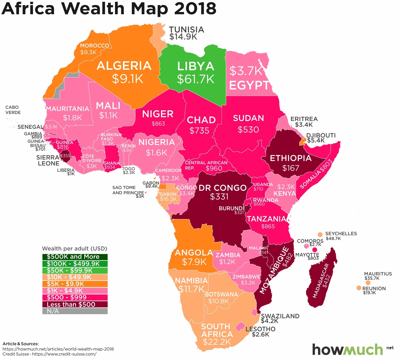 wealth map in Africa