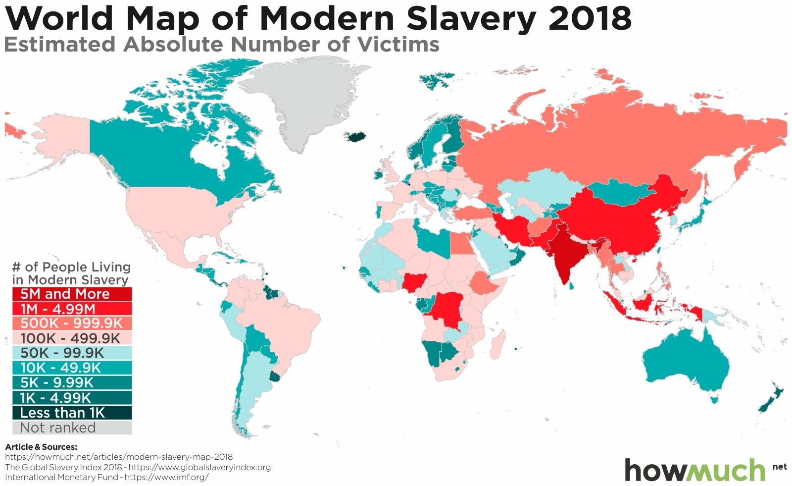 modern slavery map