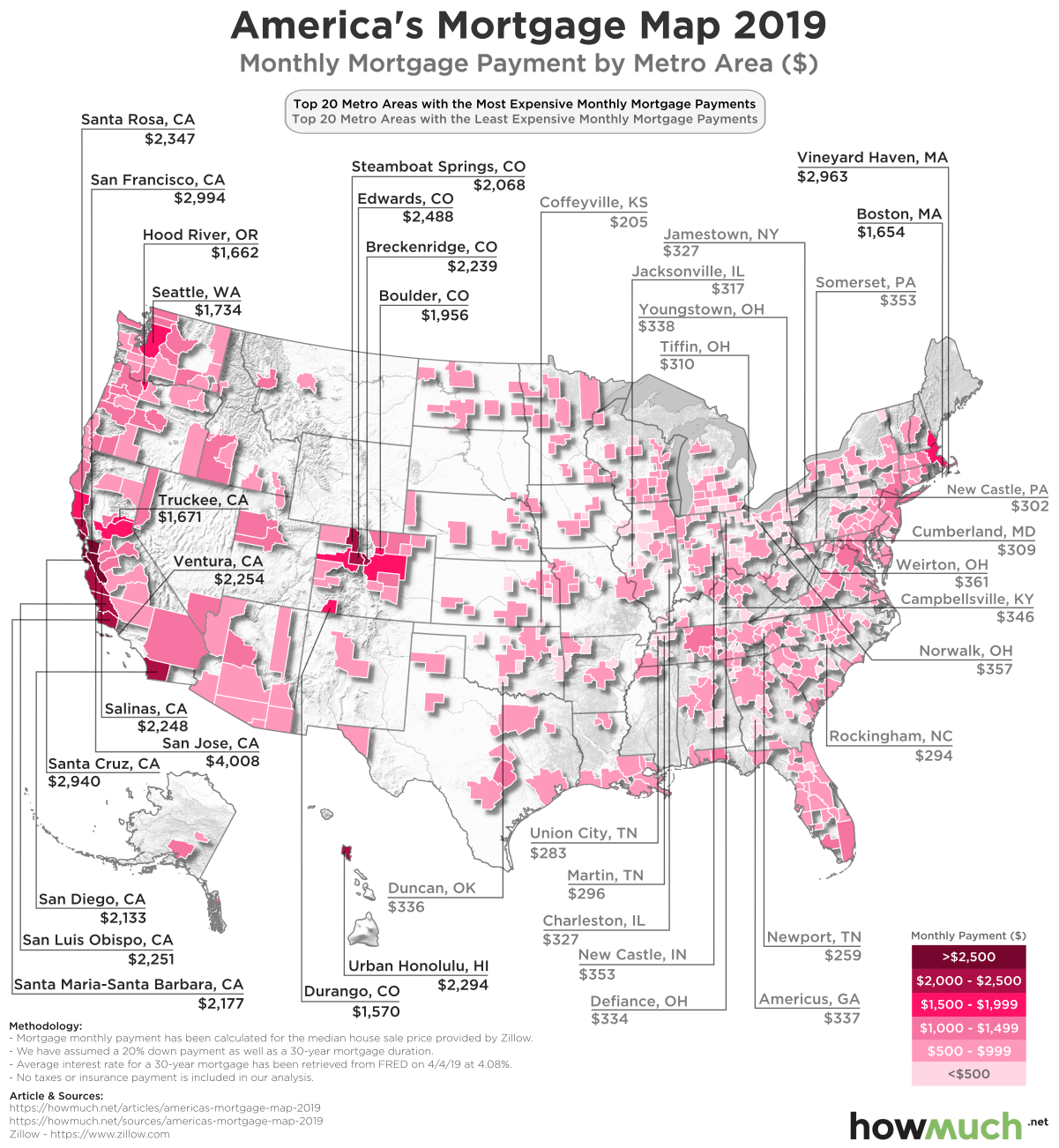 What Is The Map Of The United States.Visualizing Monthly Mortgage Payments In The United States
