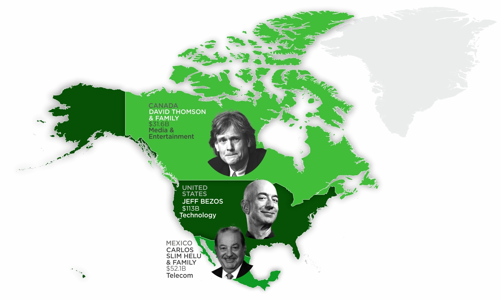 Mapping The Richest Person in Each Country 2020