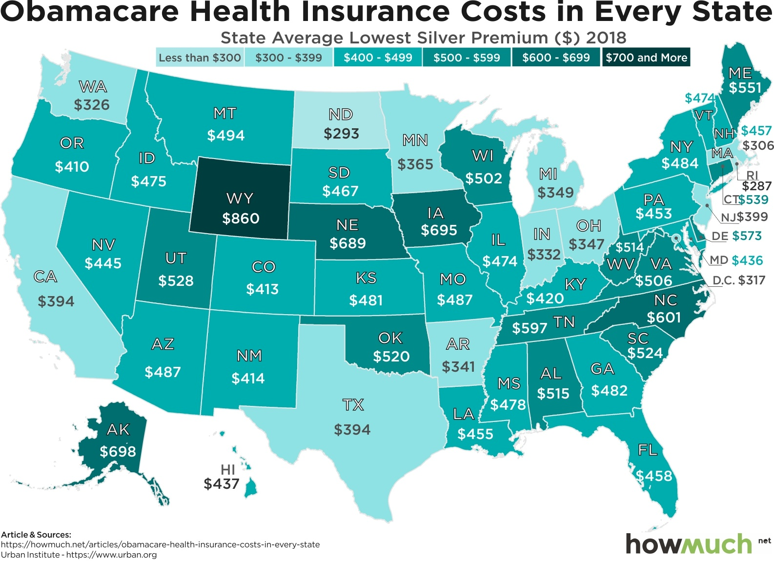 Visualizing Where Obamacare Rates Are Exploding