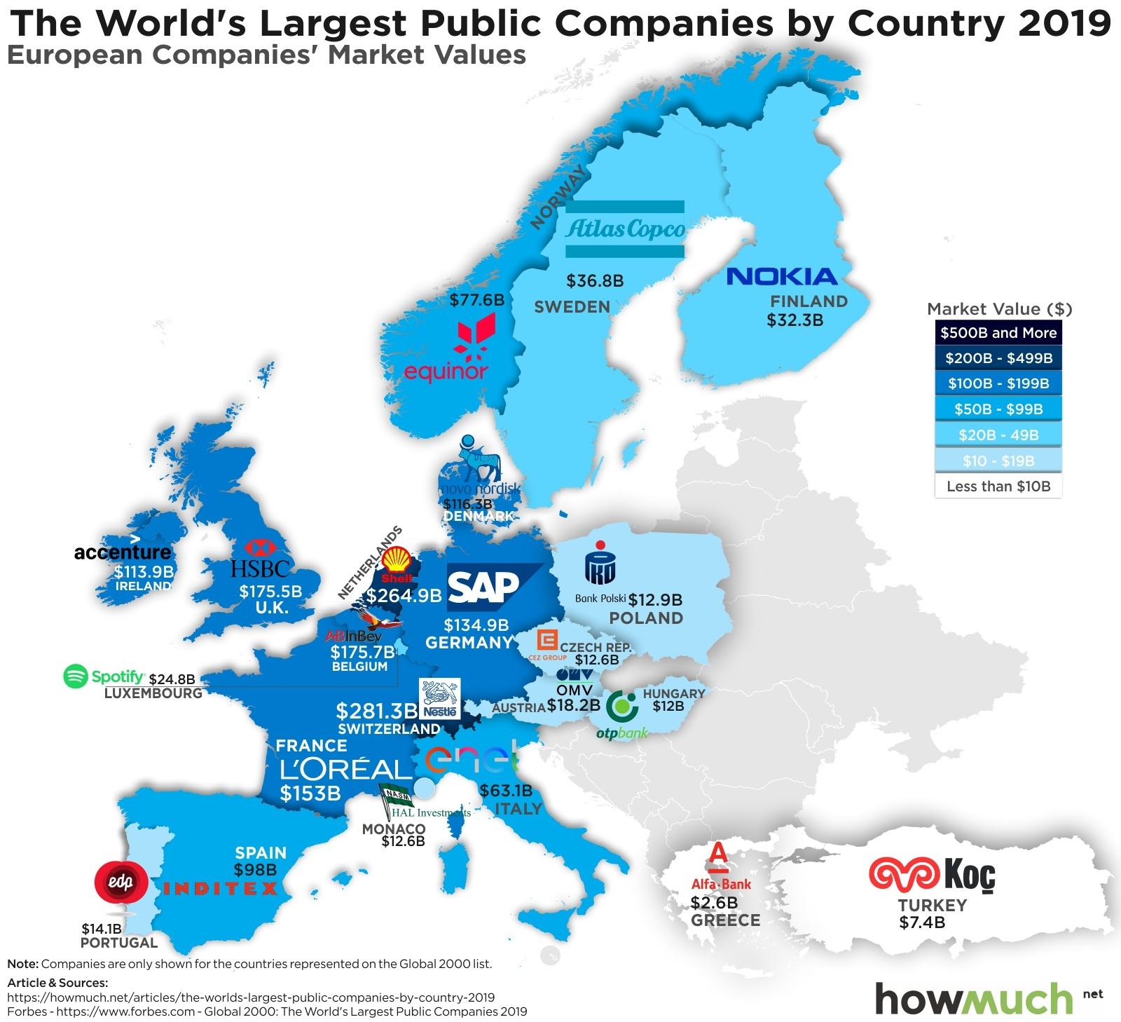 Mapa empresas europeas