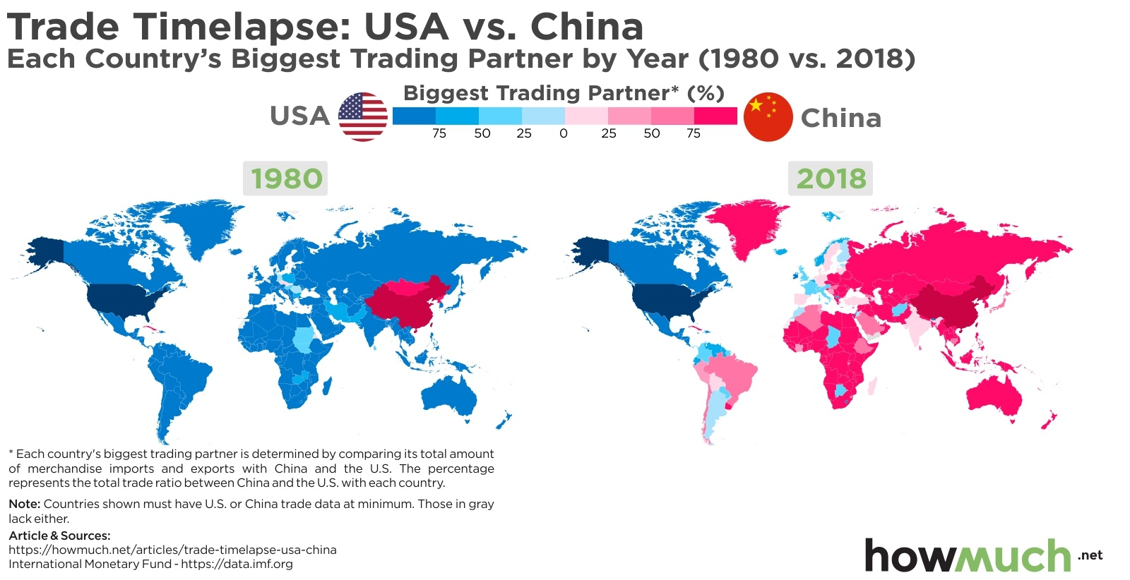 map of us and china Visualizing Usa Vs China Trade War Which Country Will Dominate map of us and china