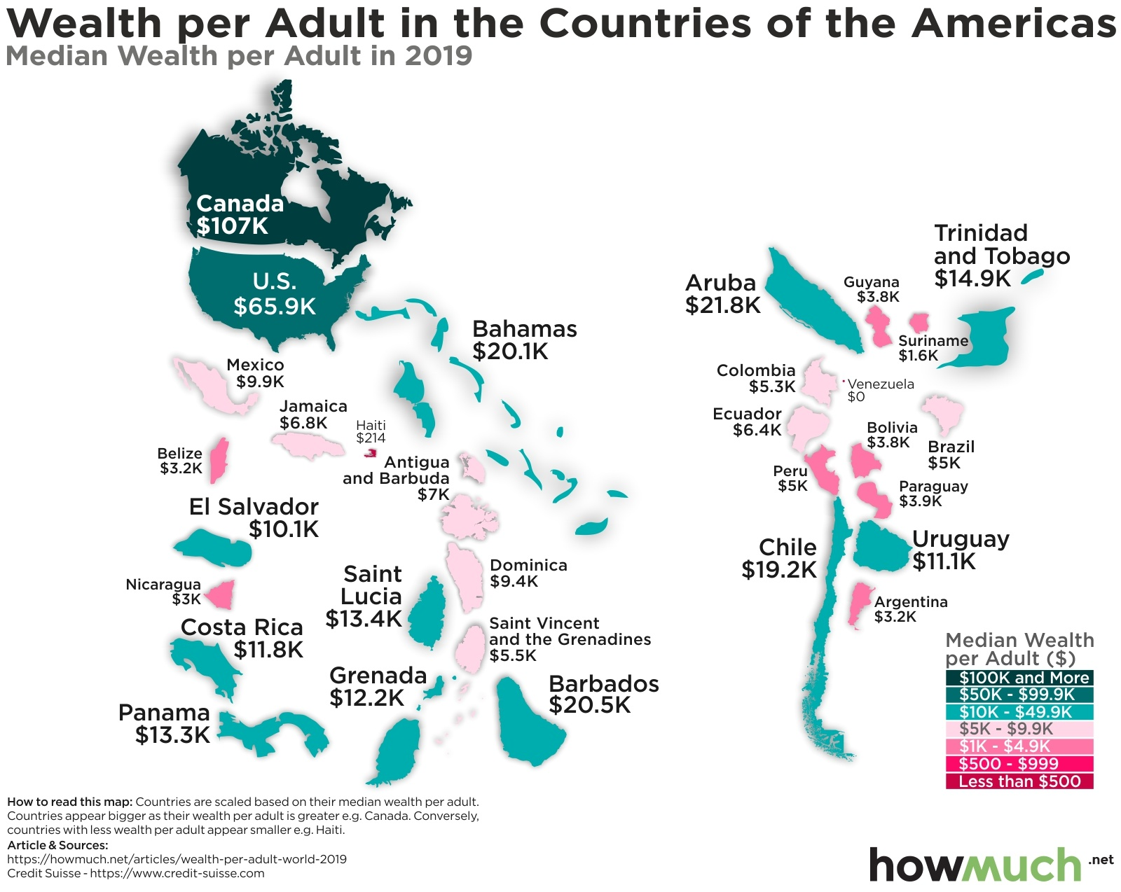Visualizing Wealth per Capita by Country
