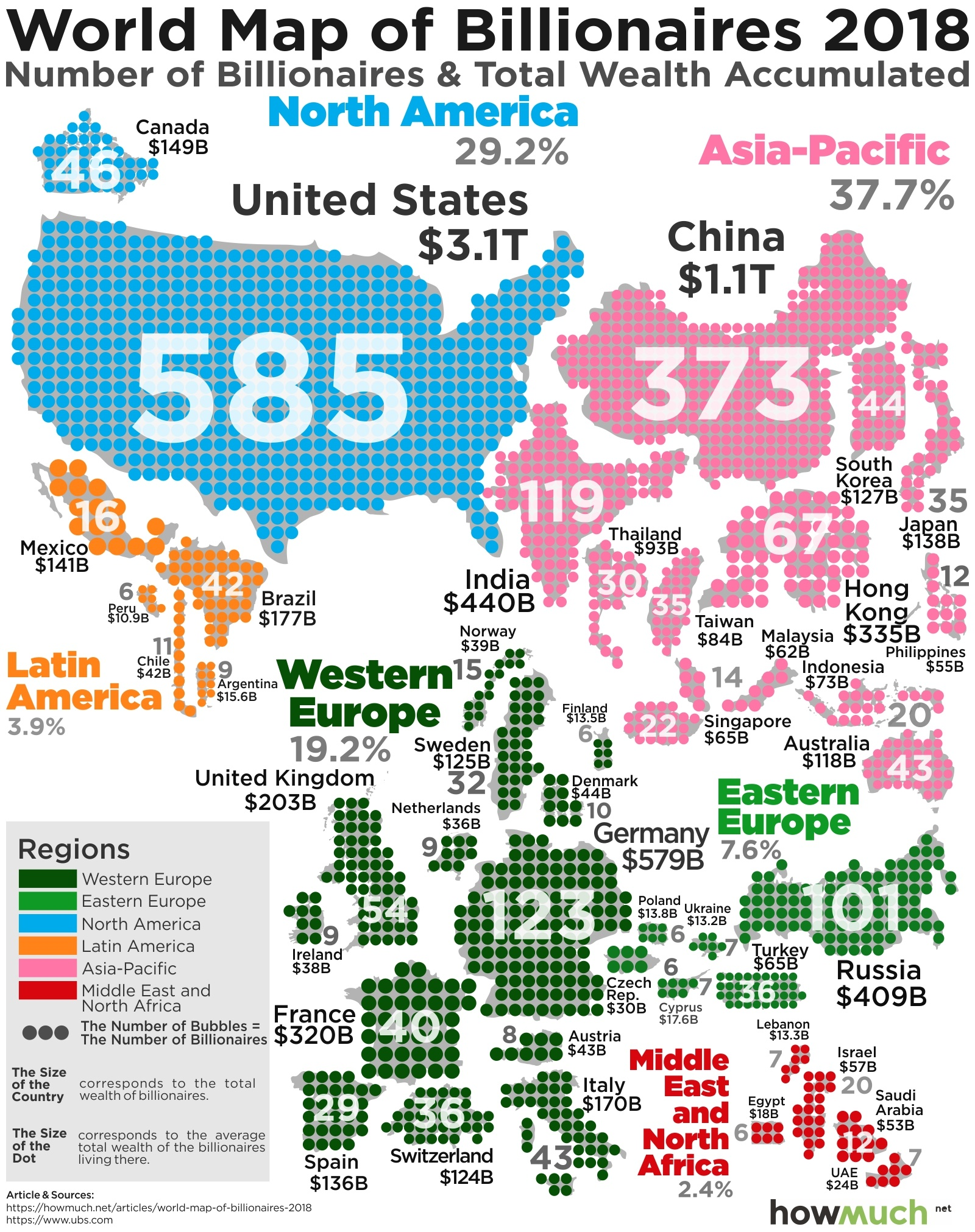 all the world s billionaires in a single map