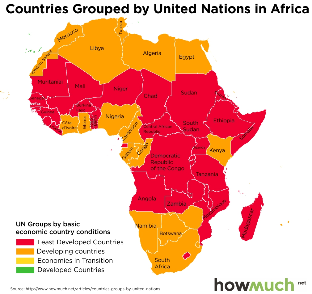 how many countries are there in africa map