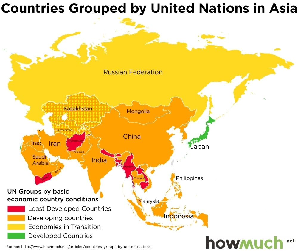 Map Of Asia Un.The Fourth World Visualized