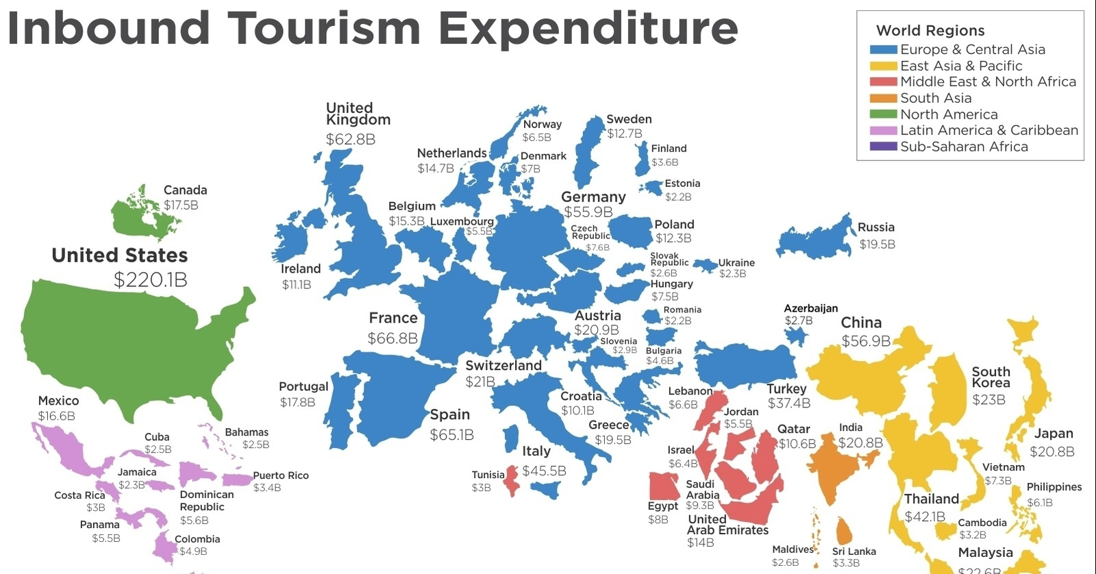 Visualizing The Tourism Economy Around The World