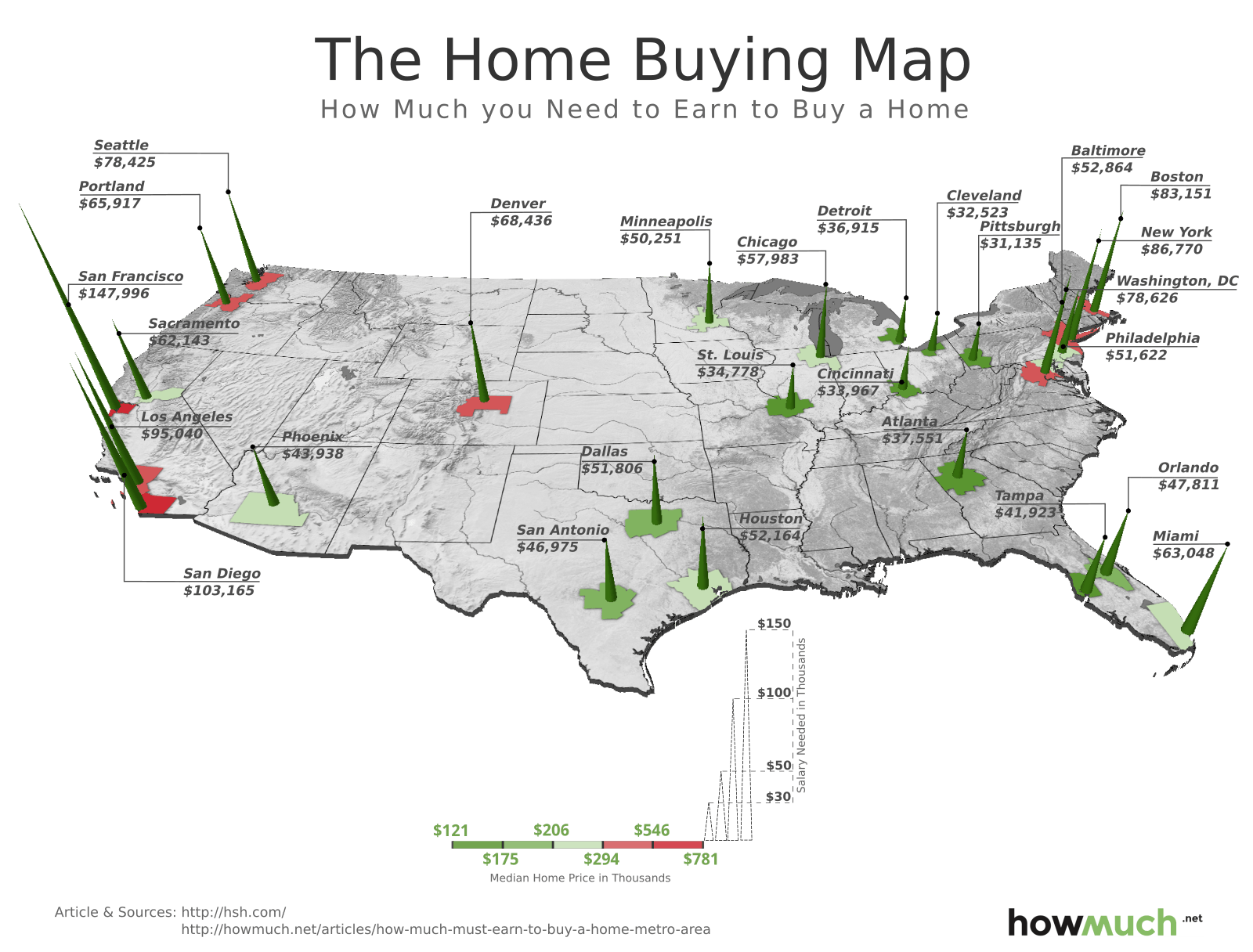 This 3D Map Shows How Much You Must Earn to Buy a Home in 27 ...