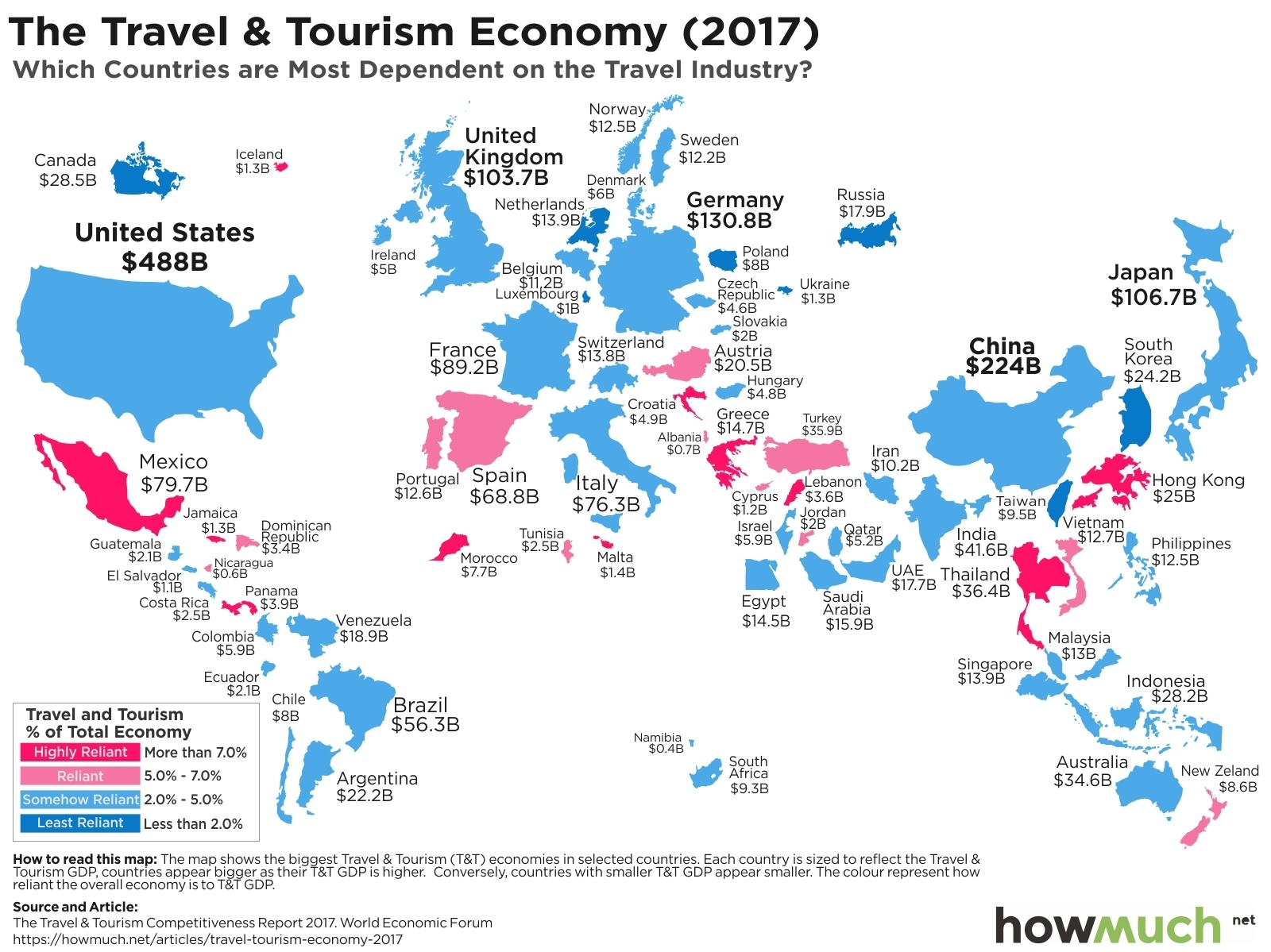 Which countries are most dependent on the travel industry gumiabroncs Choice Image