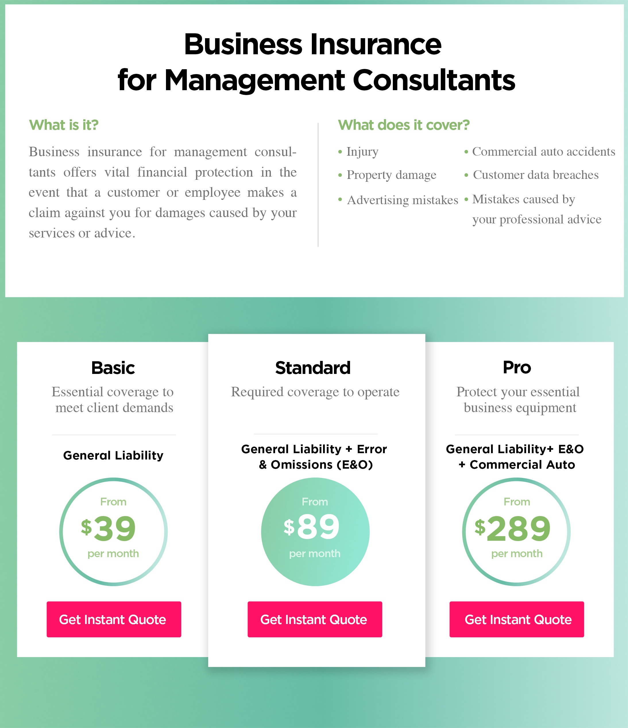Management Consultants Insurance Cost