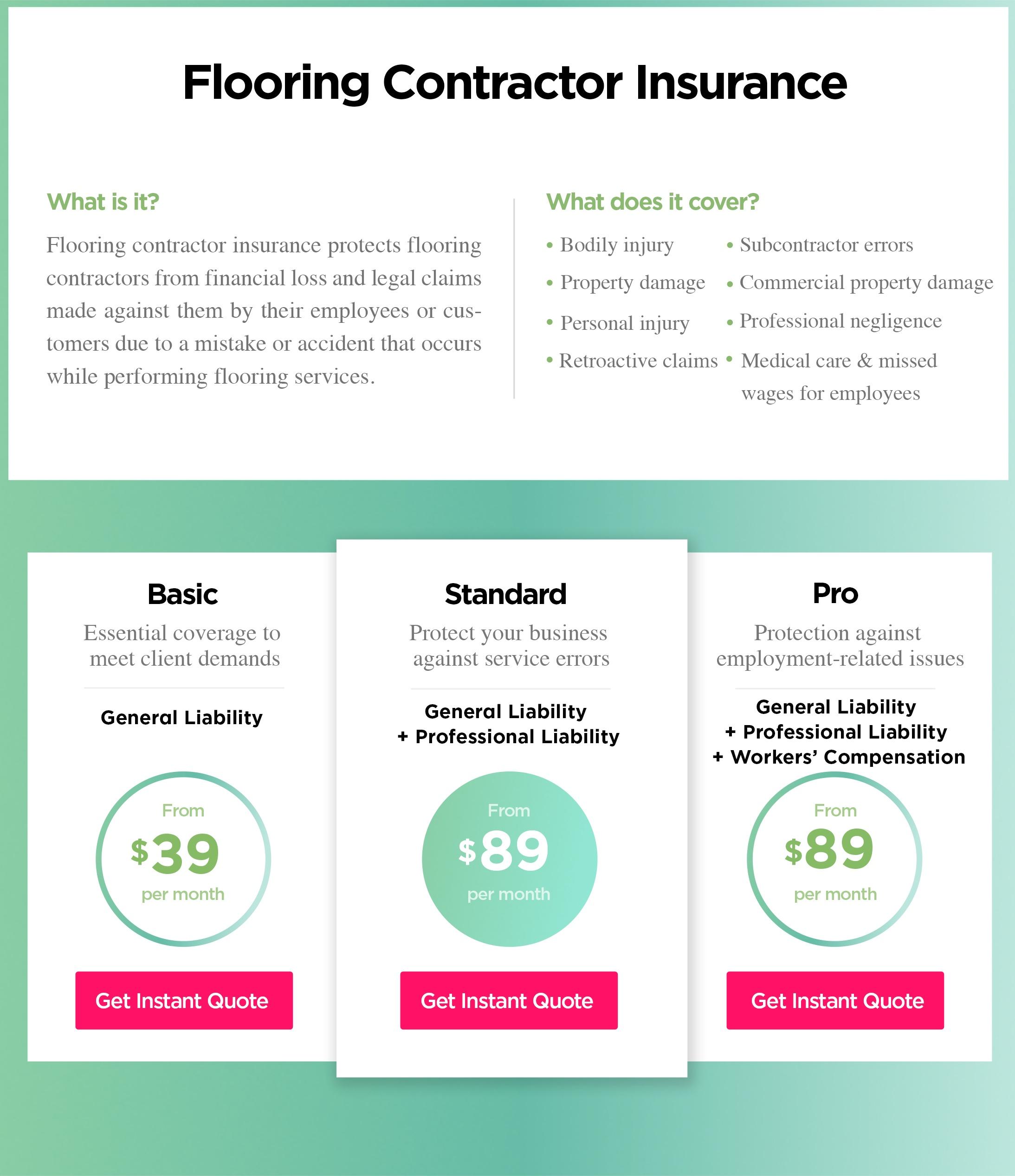Flooring Contractor Insurance