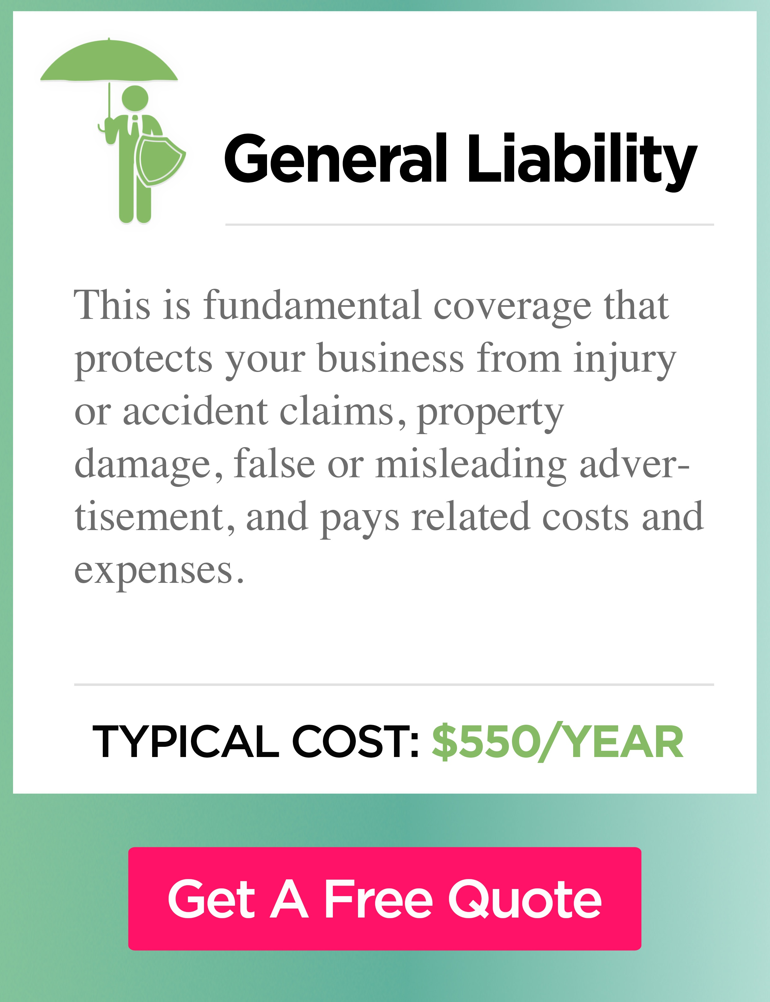 General liability cost