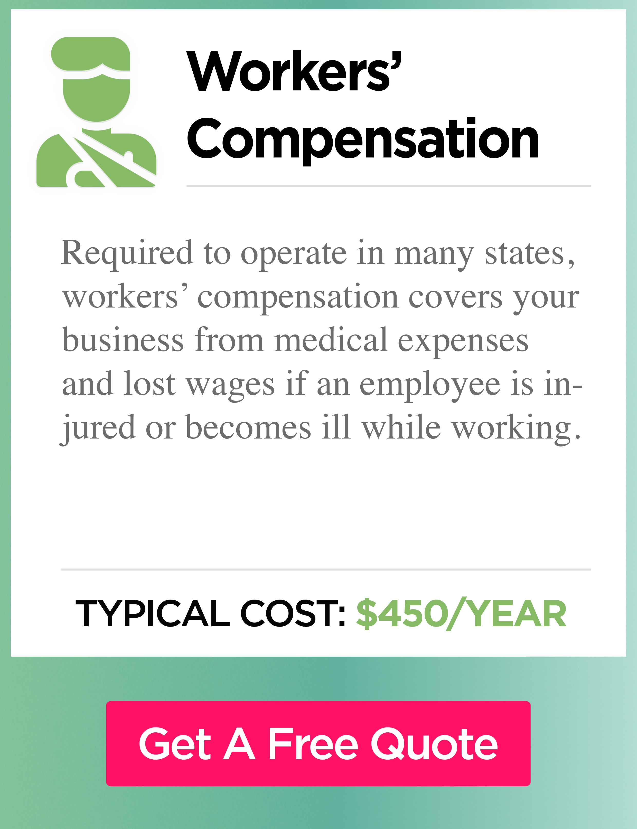 Workers' compensation insurance cost