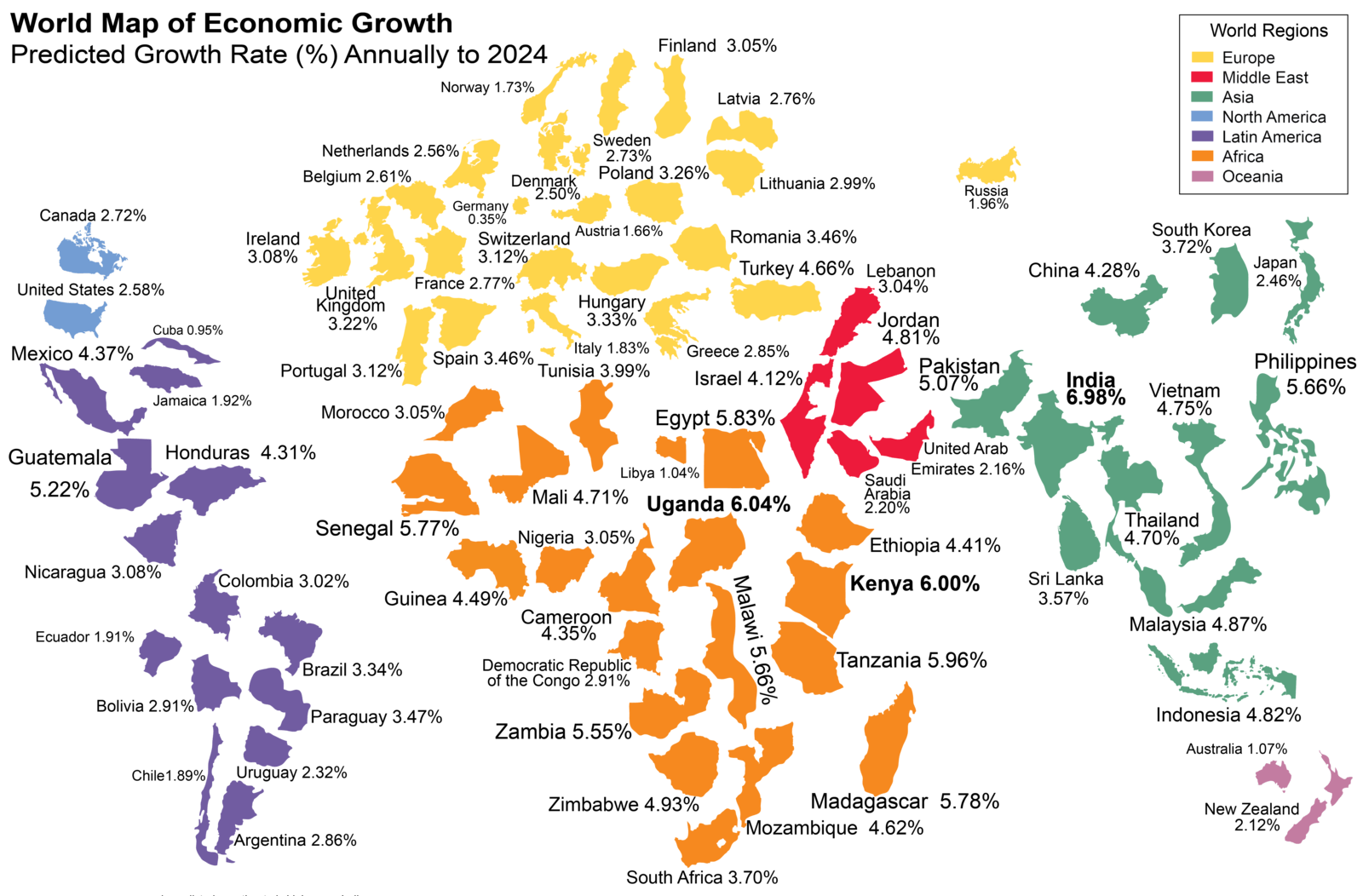 This world map shows the economic growth over the coming decade gumiabroncs Images